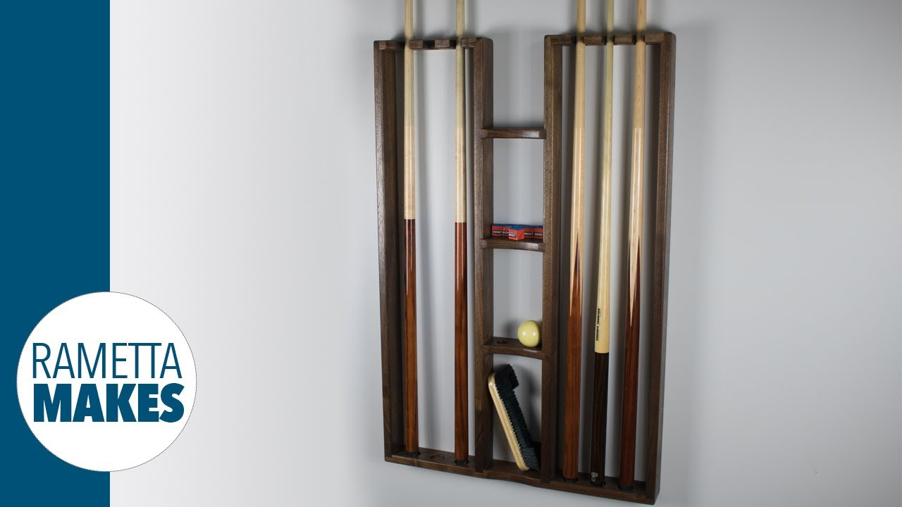 How To Build A Pool Cue Rack Diy Woodworking Youtube