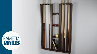 how to build a pool cue rack diy woodworking