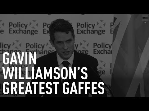 Gavin Williamson's greatest gaffes