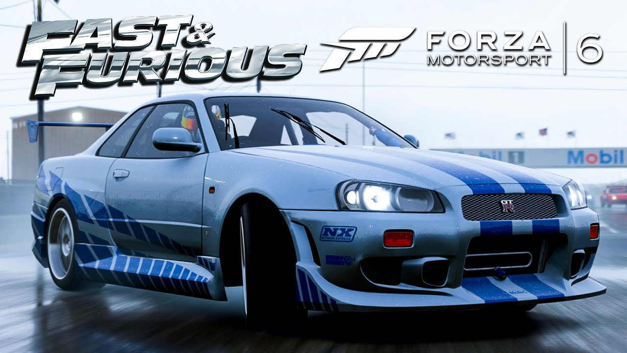 Forza 6: 2 Fast 2 Furious Skyline GT-R In The Rain