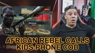 AFRICAN REBEL CALLS KIDS PHONE ON COD REACTION!!!