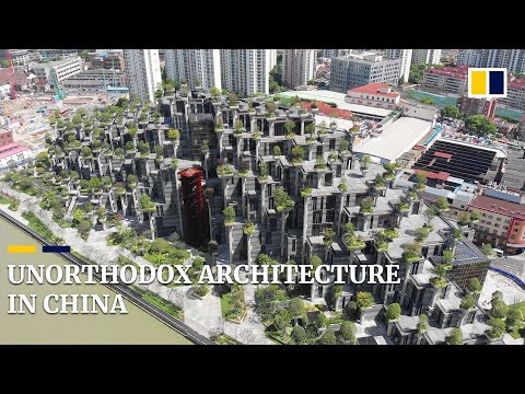 China's 'terraced' buildings maintain reputation for unorthodox architecture