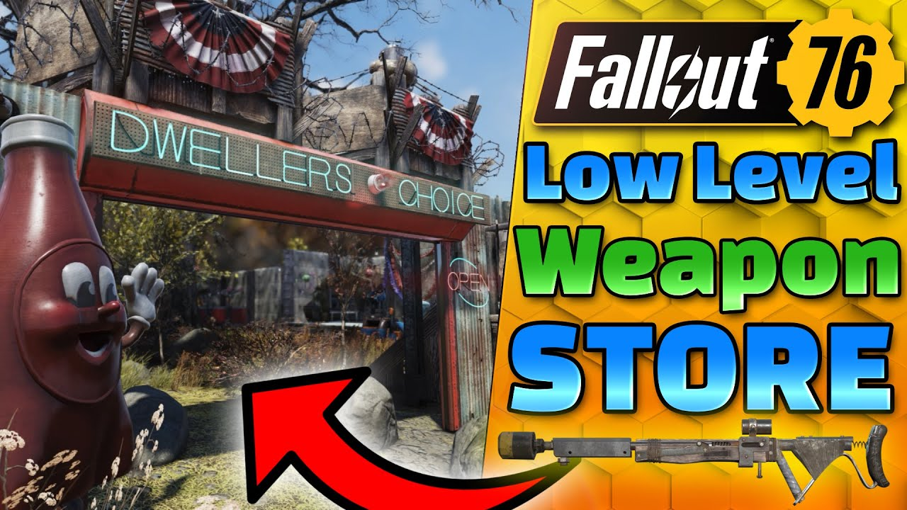 My most POPULAR Store!! - Low Level Weapon Shop - Fallout 76 CAMP BUILDING