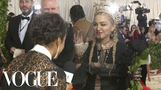 Madonna Blesses Liza Koshy and Talks Religious Themes in Her Music | Met Gala 2018 With Liza Koshy