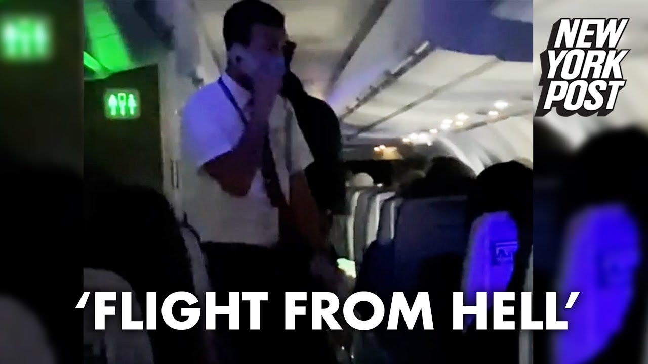 American Airlines crew member scolds passengers for making flight 'a living hell'   New York Post