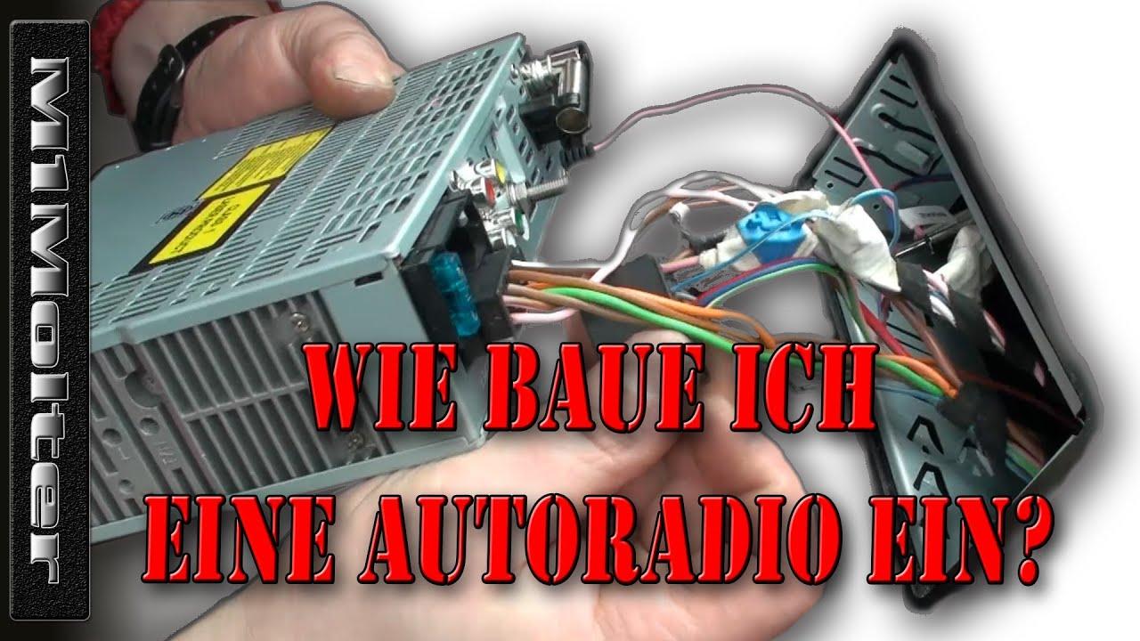 Autoradio Einbauen wie? Anschluss ISO Norm von M1Molter - YouTube