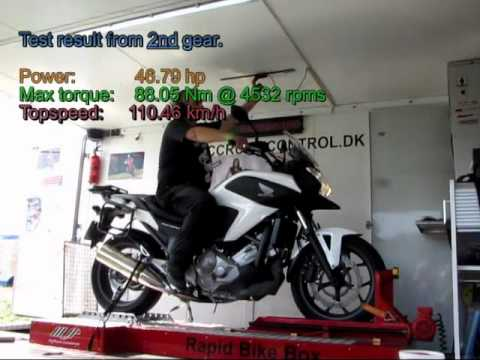 Honda NC 700 Power Test