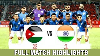 India vs Jordan Football Match Full Highlights-18 Nov 2018