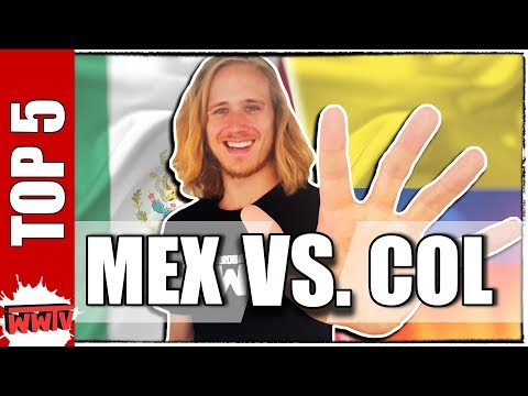 TOP 5 Diferencias entre MÉXICO y COLOMBIA (Para Extranjeros) ✌ WeroWeroTV [WWTV]