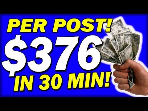 Earn $376.00 PER POST In 30 MINS! 🔥Full Tutorial🔥 (💰MAKE MONEY ONLINE💰)