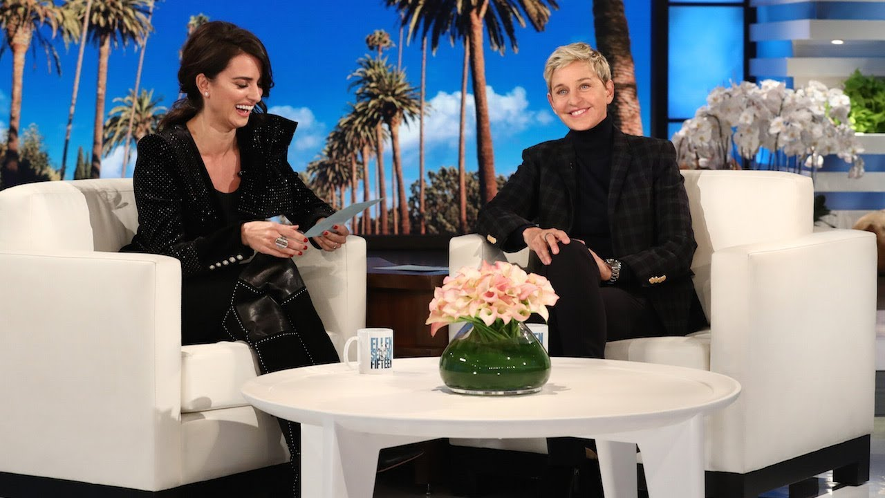 Image result for Penélope Cruz 'teaches' Spanish to Ellen DeGeneres