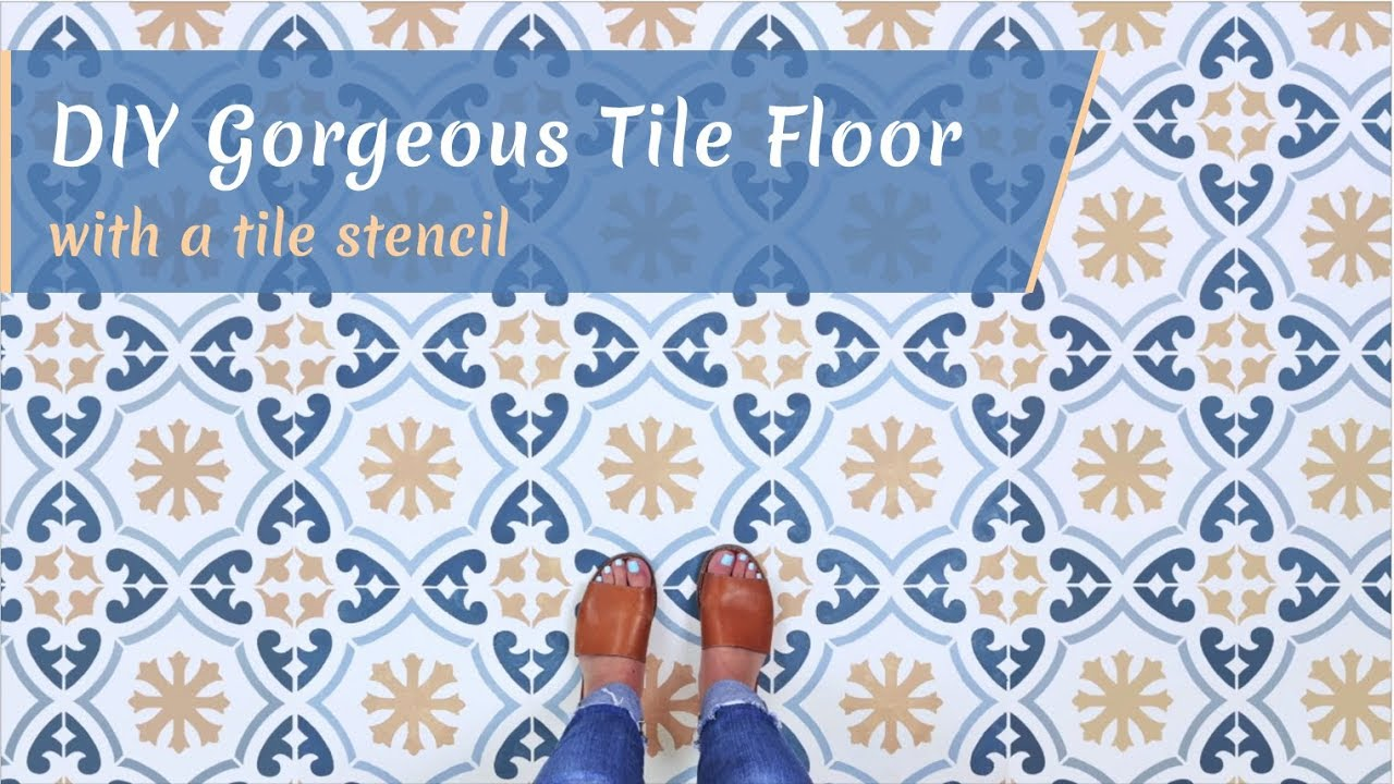 how to easily stencil a tile floor like a professional youtube rh youtube com