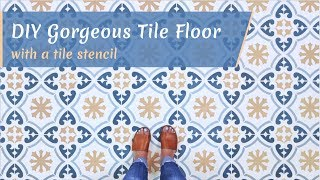 How To Easily Stencil a Tile Floor Like a Professional