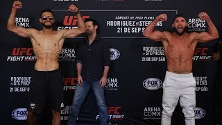 UFC Mexico City: Weigh-in Faceoffs