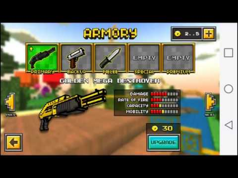 Pixel Gun 3D (OLD VERSION) Buying All Weapons, Capes, Boots, And Hats