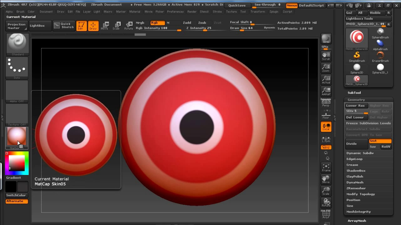 Z Brush Basics - Materials | zmat | Zbrush Trick: Reset Material |  Zbrush(materials on Objects)