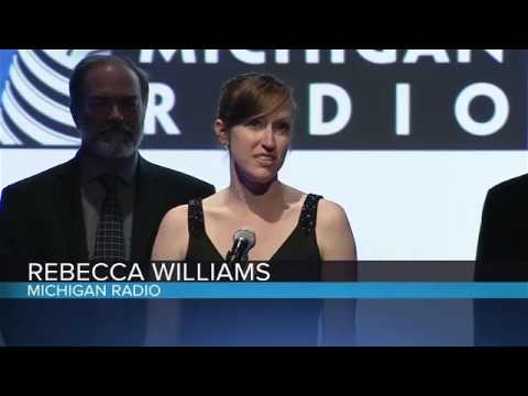 Michigan Radio accepts Scripps-Howard Award for In-Depth Radio Reporting