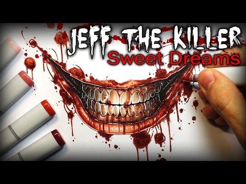Jeff The Killer Tribute Song - Creepypasta Story + Drawing (Sweet Dreams)