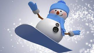 Новогодняя песня и мультик - Снеговики зажигают!