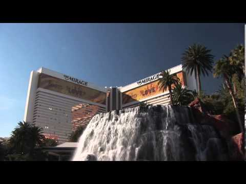 Mirage Hotel and Casino Las Vegas Waterfall near Pool with Palm Trees during daytime on The Strip NV
