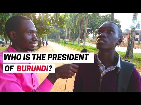 Who is the  PRESIDENT of Burundi? - [ Street Quiz ]