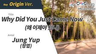 [KPOP MR 노래방] 왜 이제야 왔니 - 정엽 (Origin Ver.)ㆍWhy Did You Just Came Now - Jung Yup