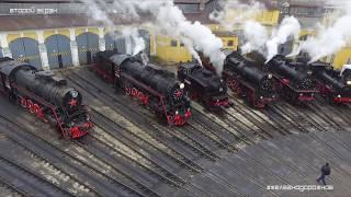 Паровозы с воздуха в HD. Ретро транспорт СССР. #Железнодорожное. Второй экран