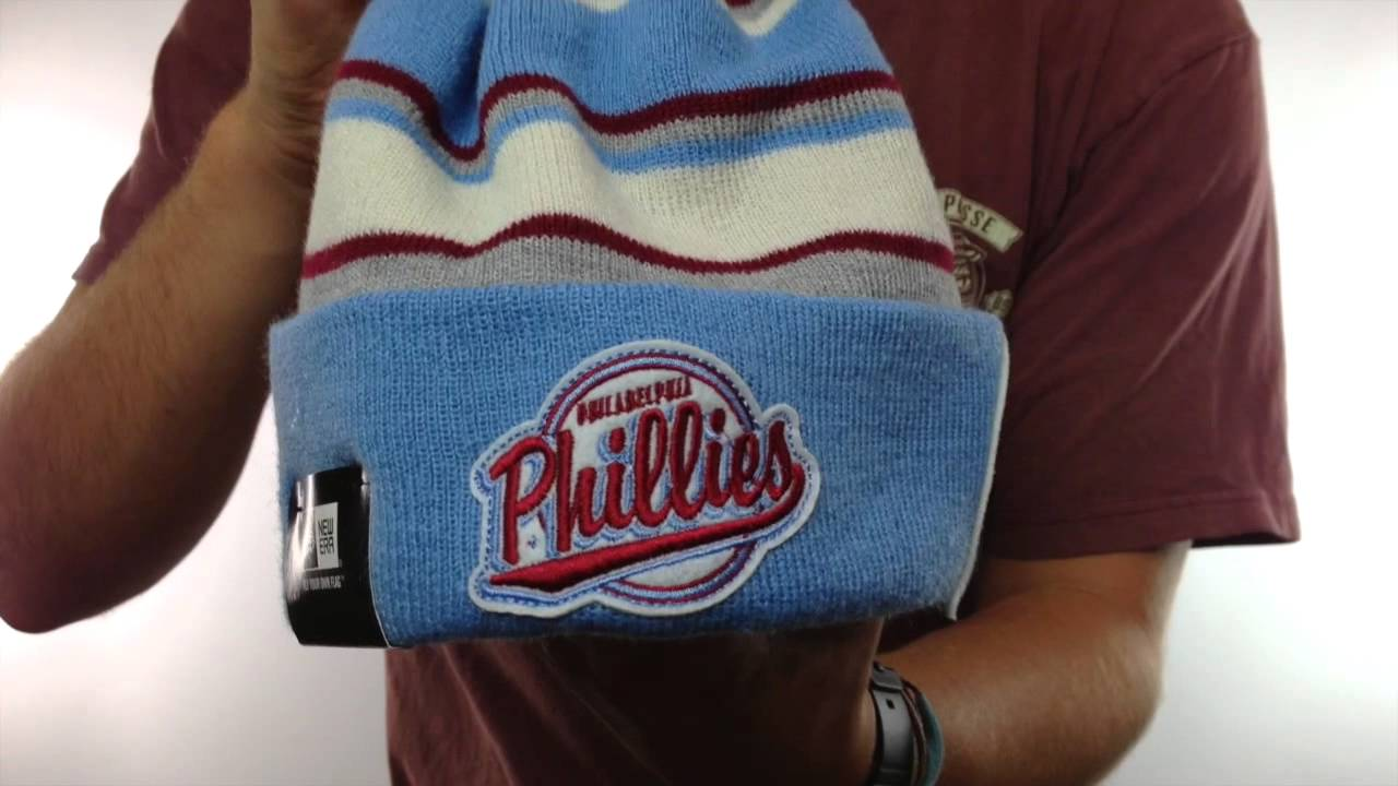 0e2d54734de98 Phillies  COOP WINTER TRADITION  Knit Beanie Hat by New Era - YouTube