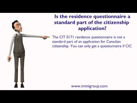 Is the residence questionnaire a standard part of the citizenship application?
