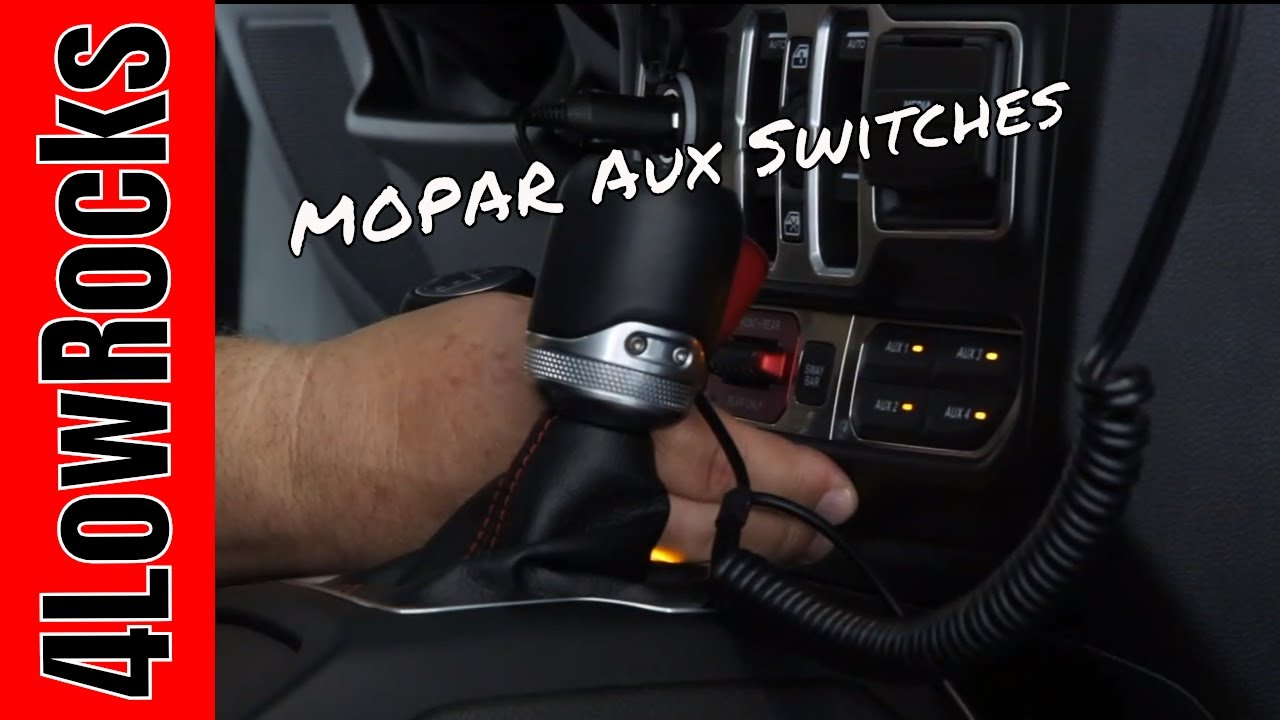 MOPAR Aux Switches for the Jeep Wrangler JL