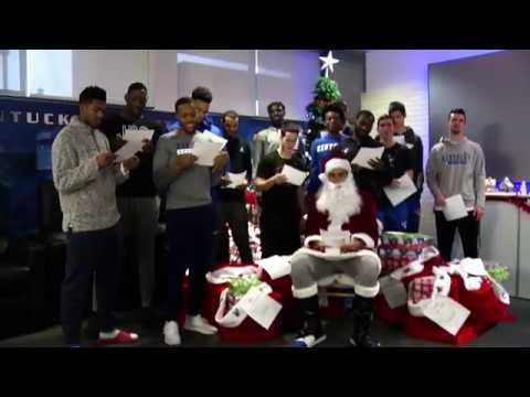 "MBB Kentucky Basketball Sings ""We Wish You a Merry Christmas"""