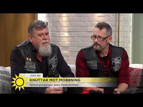 Här är mc-gänget som hjälper mobbade barn - Nyhetsmorgon (TV4)