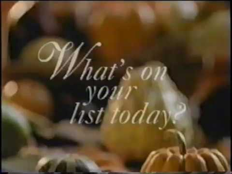 fred meyer holiday commercial jingle whats on your list today 1998 - Fred Meyer Christmas Hours
