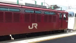 JR青森駅 215系 甲種輸送 発車【EF81形】 2021.05.25