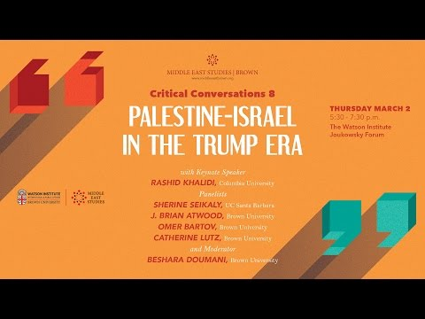 Palestine-Israel in the Trump Era