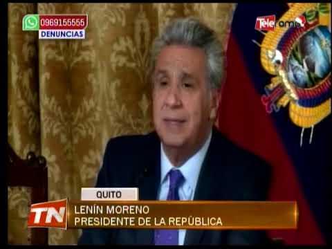 Lenín Moreno confirmó que Jorge Glas ya no es vicepresidente