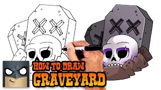 How to Draw Graveyard | Clash Royale