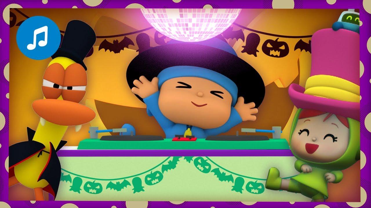 🎃 🔊 CANCIONES INFANTILES de POCOYÓ - Halloween Disco   Caricaturas y dibujos animados