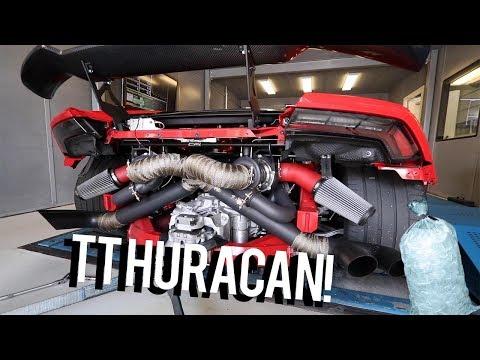Putting a bag of ice into a twin turbo Lamborghini