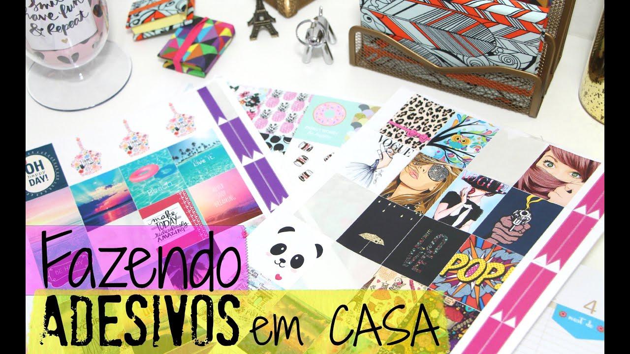 Arte Minha Artesanato São Carlos ~ Como fazer adesivos para decorar seu Planner Agenda YouTube