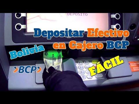 CÓMO DEPOSITAR DINERO EN CAJERO AUTOMÁTICO BCP BOLIVIA