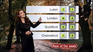 Reham Khan BBC London News afternoon weather December 27th 2011