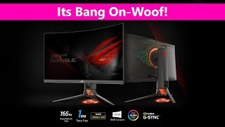 ASUS ROG PG27VQ Curved Gaming Monitor REVIEW - G-Sync 1440P 165Hz 1Ms response - Its Epic