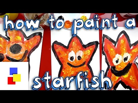 How To Paint A Starfish (for Super Young Artists)