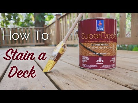 How To: Stain a Deck
