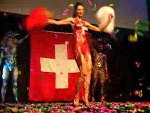 Show Lady Suisse a Paris mars 2007, congres d'esthetique