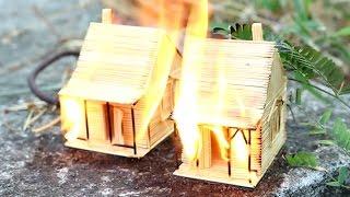 이쑤시개 집이 태워진다  - 무슨 일이야?