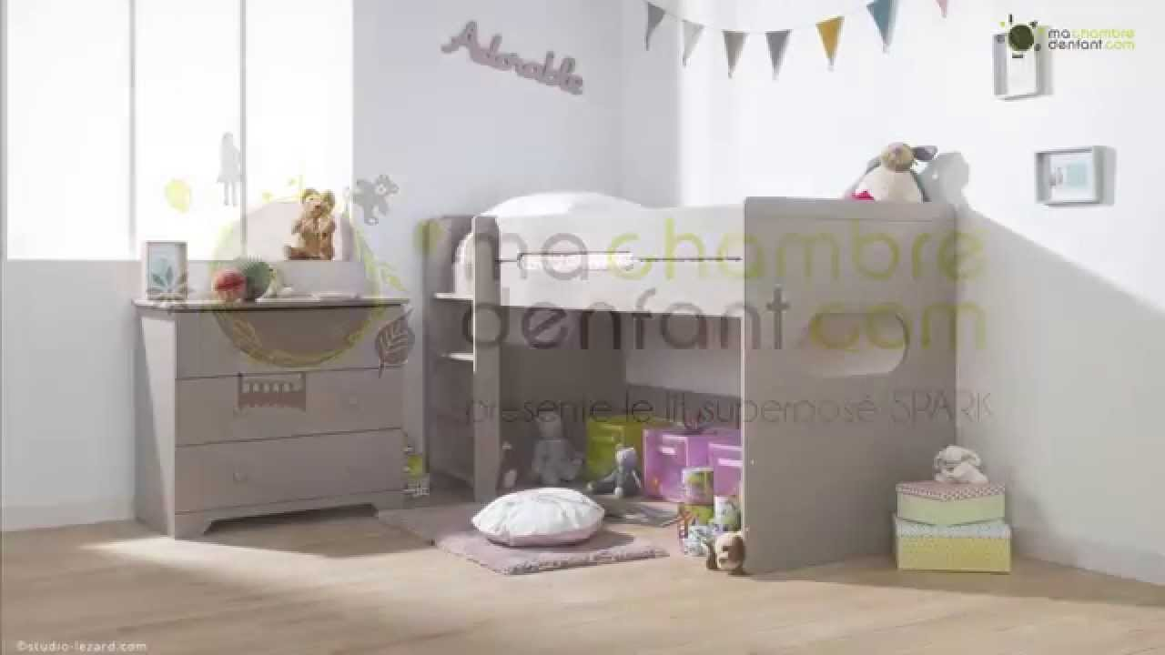 lit superpos enfant spark modulable ma chambre d 39 enfant youtube. Black Bedroom Furniture Sets. Home Design Ideas