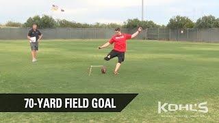 70-Yard Field Goal | Andrew Baggett | Kohl's Kicking Pro Combine