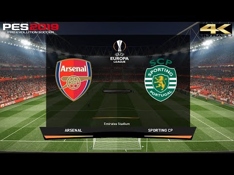 PES 2019 (PC) Arsenal vs Sporting CP | UEFA EUROPA LEAGUE PREDICTION | 8/11/2018 Mp3